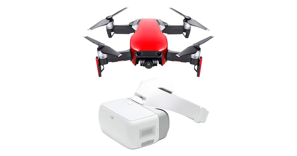 DJI Mavic Air Fly More Combo   DJI Goggles Flame Red Drone image