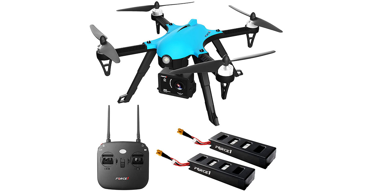 Force 1 F100 Ghost Brushless Drone with Camera for Adults image