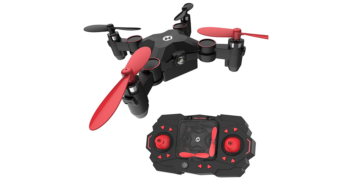 Holy Stone HS190 Foldable Mini Nano RC Drone for Kids Gift Portable Pocket Quadcopter image