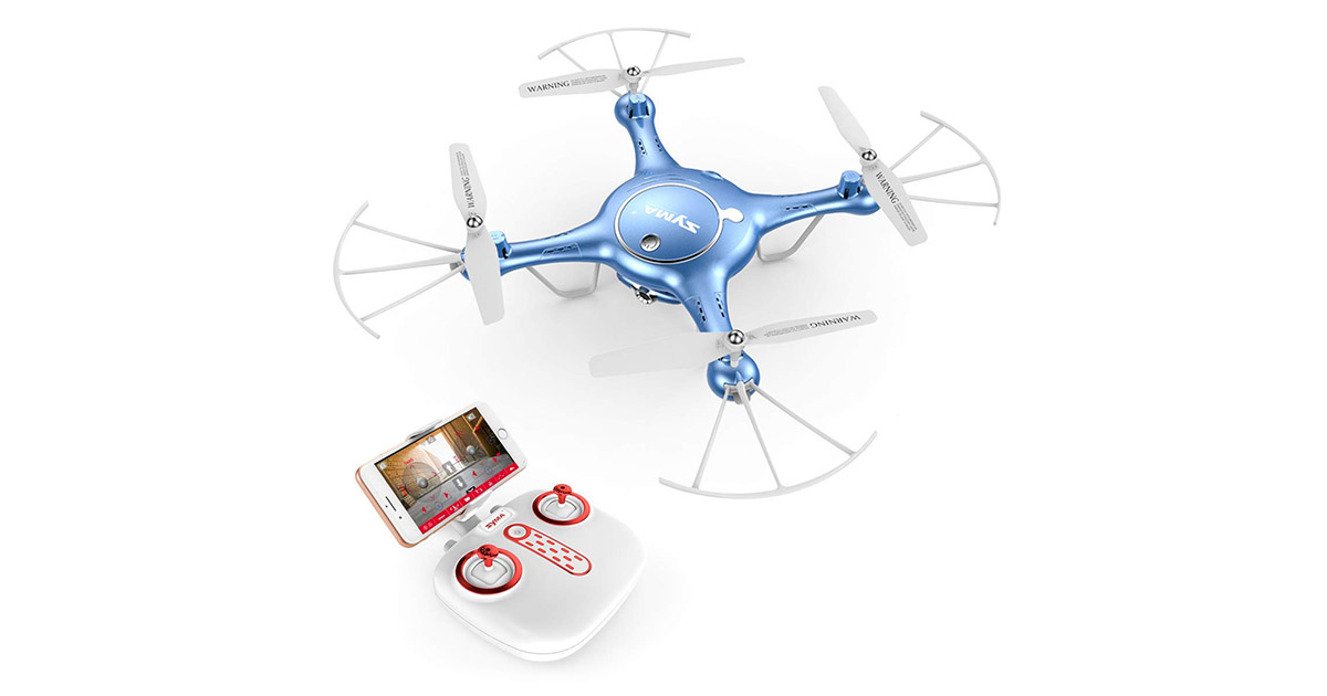 Syma X5UW FPV RC Drone with 720PHD Wi-Fi Camera Live Video Training Quadcopter image