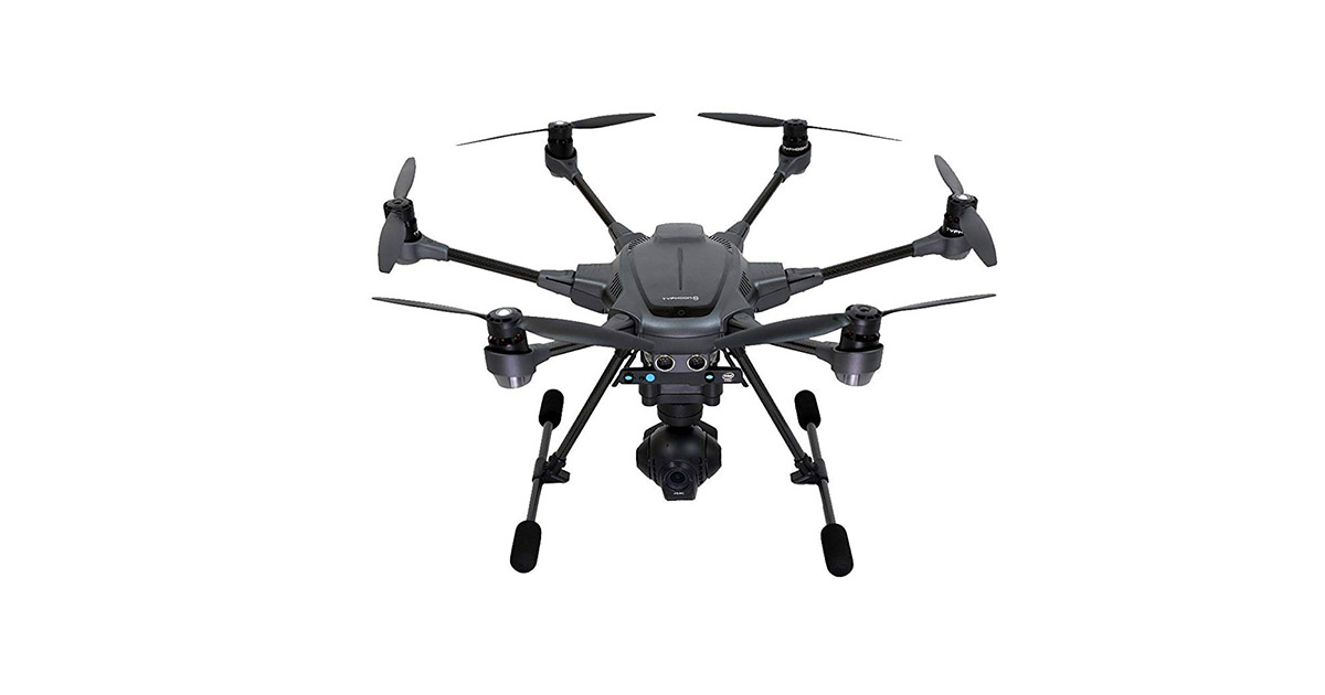 Yuneec YUNTYHBRUS Typhoon H Pro with Intel RealSense Technology 4K Collision Avoidance Hexacopter Drone image