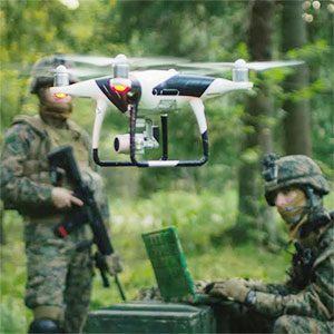 Military drone applications image